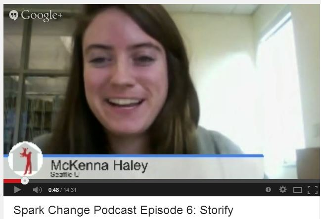 Storify, Podcast, Mckenna Haley, Spark Change, screenshot, Google+