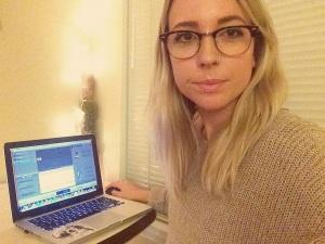 Haley selfie laptop